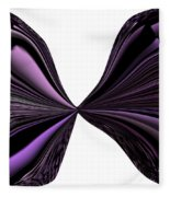 Purple Monarch Butterfly Abstract Fleece Blanket