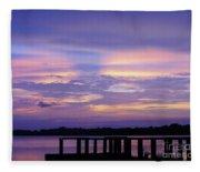 Purple Morning Fleece Blanket