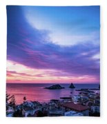 Purple Morning Fleece Blanket
