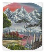 Purple Mountain Lake Fleece Blanket