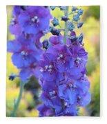 Purple Mullein Fleece Blanket