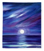 Purple Night Fleece Blanket