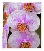 Purple Orchid 1 Fleece Blanket