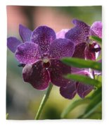 Purple Orchid Beauty Fleece Blanket