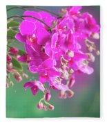 Purple Orchid Branch Fleece Blanket