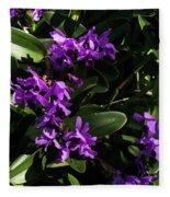 Purple Orchid Plant Fleece Blanket