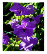 Purple Orchids Fleece Blanket
