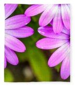 Purple Petals Fleece Blanket