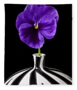 Purple Pansy Fleece Blanket