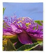 Purple Passion Flower  Fleece Blanket