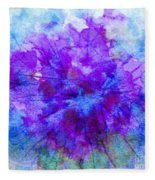 Purple Passion Hydrangea  Fleece Blanket