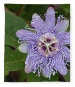 Purple Passionflower #2 Fleece Blanket