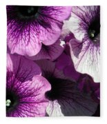 Purple Petunia Paradise Fleece Blanket