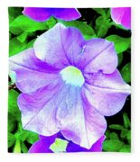 Purple Petunias 2 Fleece Blanket
