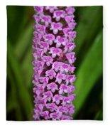 Purple Pillar Fleece Blanket