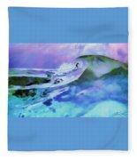 Purple Pit Fleece Blanket