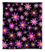 Purple Polka Fleece Blanket