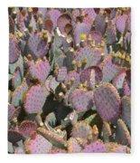 Purple Prickly Pear 3 Fleece Blanket