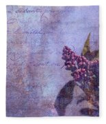 Purple Prose Fleece Blanket