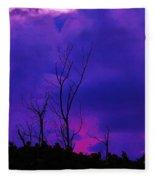 Purple Rain Fleece Blanket