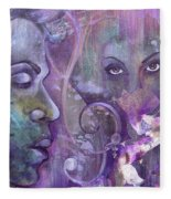 Purple Rain Fleece Blanket