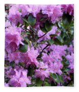 Purple Rhododendrons Fleece Blanket