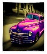 Purple Ride Fleece Blanket