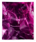 Purple Rose And Pansy Fleece Blanket