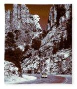 Purple Mount Rushmore Vision Fleece Blanket