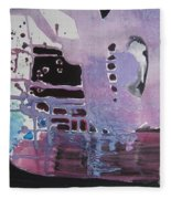 Purple Seascape Fleece Blanket