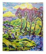 Purple Skies Seven Fleece Blanket