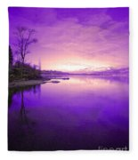 Purple Skies Fleece Blanket