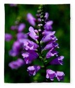 Purple Skullcap Bloom Fleece Blanket
