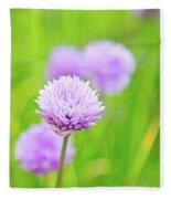 Purple Spring 11 Fleece Blanket