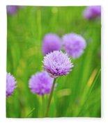 Purple Spring 14 Fleece Blanket