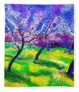 Purple Spring Fleece Blanket