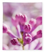 Purple Spring Lilac Flowers Blooming Close-up Fleece Blanket