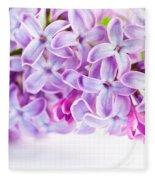 Purple Spring Lilac Flowers Blooming Fleece Blanket
