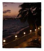 Purple Sunset In Saint Martin Fleece Blanket