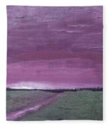 Purple Sunset Fleece Blanket