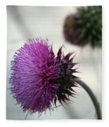 Purple Thistle Fleece Blanket