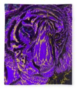 Purple Tiger Fleece Blanket
