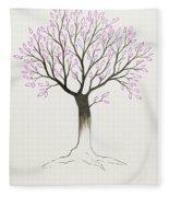 Purple Tree Fleece Blanket