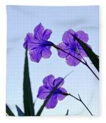 Purple Trio Fleece Blanket