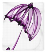 Purple Umbrella Fleece Blanket