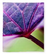 Purple Veins Fleece Blanket