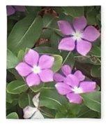 Purple Vintas Flower Photograph Fleece Blanket