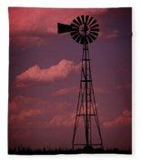 Purple Wind Fleece Blanket