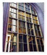 Chicago Golden Purple Window Panes Fleece Blanket