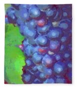 Purple Wine Grapes 2017 Fleece Blanket